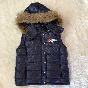 Victoria's Secret PINK NFL Broncos Puffy Vest